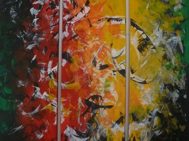 """Triptychon """"Flügelschlag der Zeit"""""""